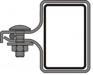 Obejma montażowa początkowa PANEL 2D