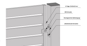 Detal montażu ogrodzenia palisadowego SUPREME